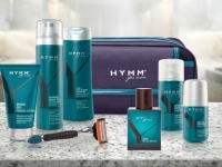 HYMM products with HYMM fragrance and HYMM toiletry bag